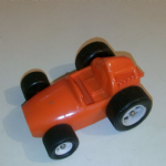 Galanite made in Sweden ORANGE plastic racing car